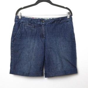 Boden   Mid Length Denim Shorts 8 Petite